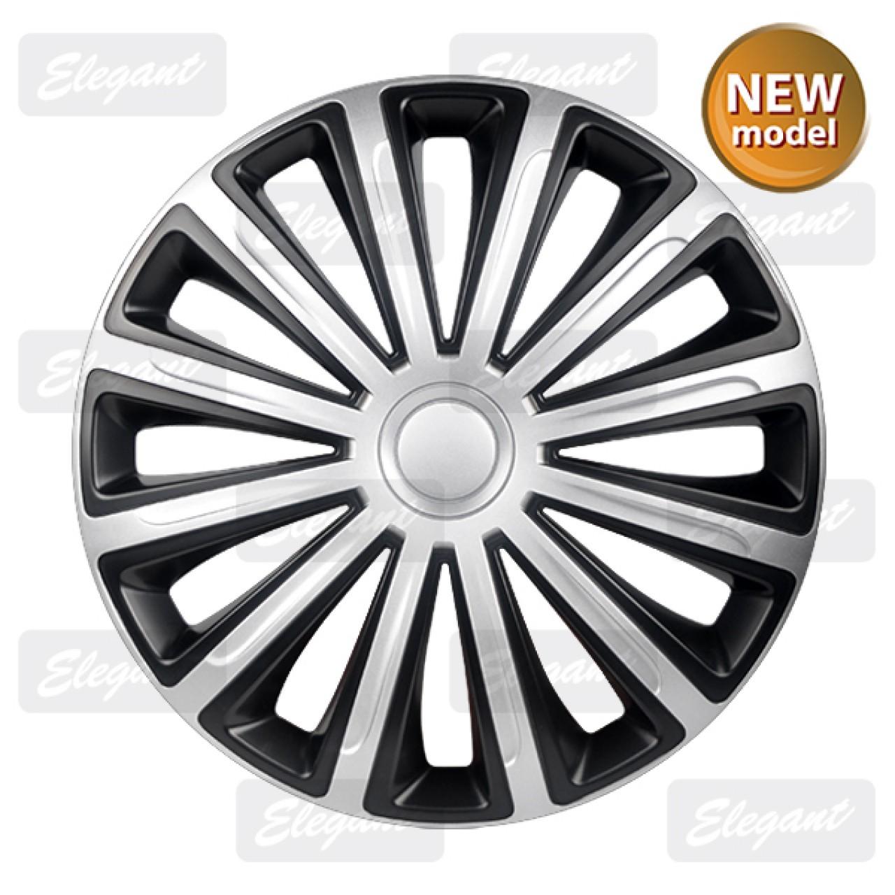 Колпаки Elegant TREND Silver-black R13