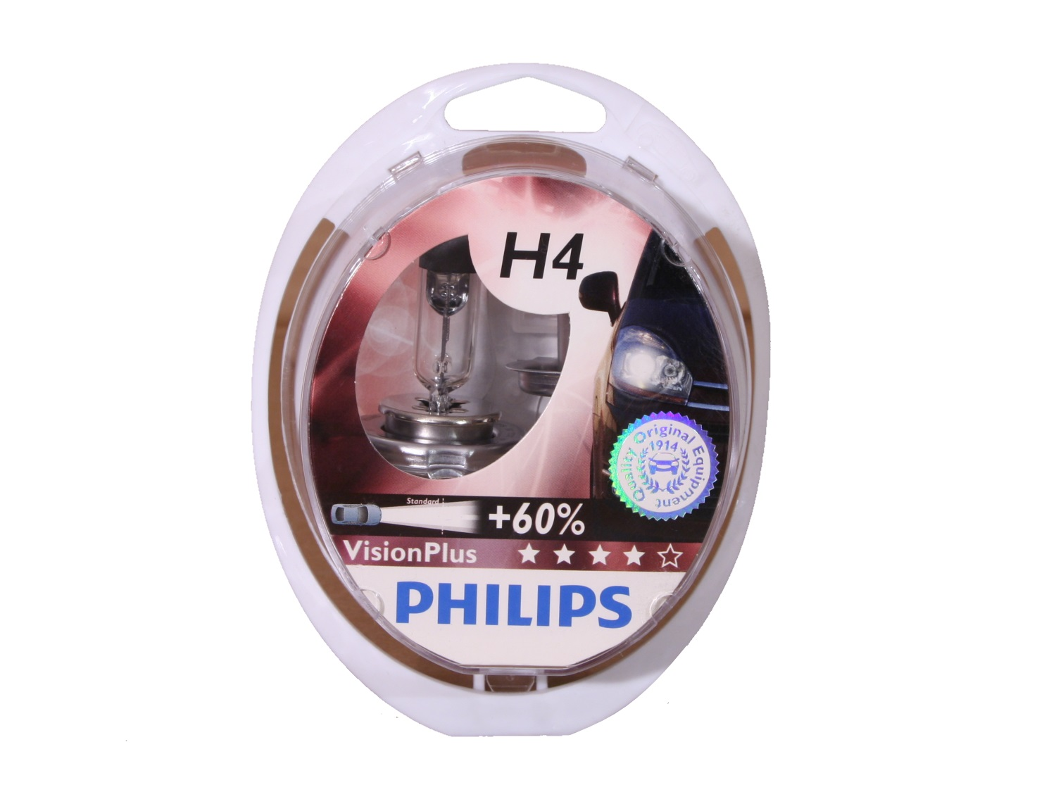 лампы Philips Vision Plus +60% H4