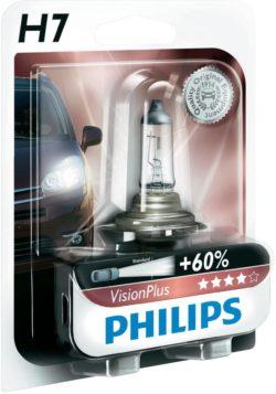 Лампа Philips H7 Vision Plus +60% 12v 55w
