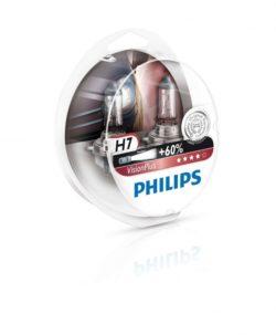 Лампа Philips H7 Vision Plus +60% 12v 55w (box)
