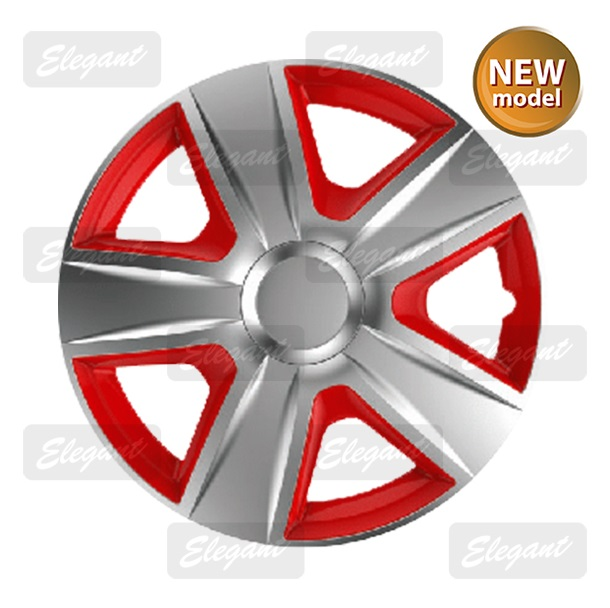 Колпаки Elegant ESPRIT silver-red R13