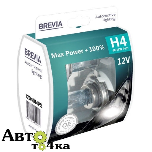 Лампа Brevia H4 Max Power +100% (box)