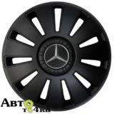 Колпаки REX черные с логотипом Mercedes