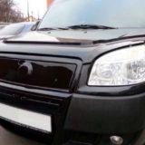 Зимние накладки в бампер Fiat Doblo «FLY» глянец