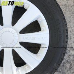 Колпаки на колёса белые на 13
